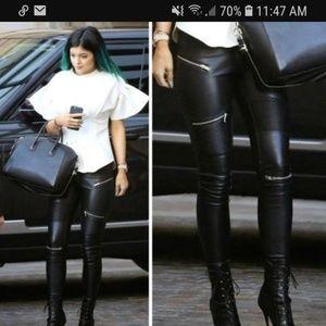 ZARA ▪ Premium Denim Collection Biker zipper jeans